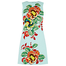 Buy Warehouse Botanical Floral Shift Dress, Mint Online at johnlewis.com
