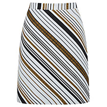 Buy Oasis Saffron Stripe Hattie Skirt, Multi Online at johnlewis.com