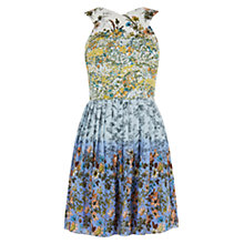 Buy Oasis Ombre Ditsy Print Skater Dress, Multi Online at johnlewis.com