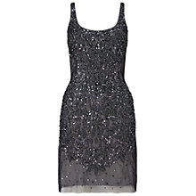 Buy Adrianna Papell Sleeveless Beaded Cocktail Dress, Navy Online at johnlewis.com