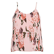 Buy Urban Touch Floral Print Pleated Cami Top, Peach Online at johnlewis.com