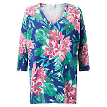 Buy East Abigail Print Jumper, Ocean Online at johnlewis.com