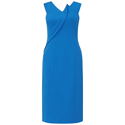 Adrianna Papell Asymmetric Structured Drape Dress, Yves Blue