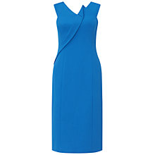Buy Adrianna Papell Asymmetric Structured Drape Dress, Yves Blue Online at johnlewis.com