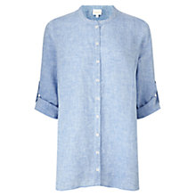 Buy East X Dye Oversized Linen Shirt, Sky Online at johnlewis.com