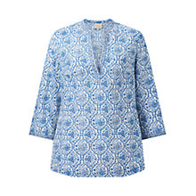 Buy East Sahara Print Blouse, White Online at johnlewis.com