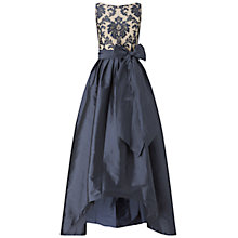 Buy Adrianna Papell Embroidered Lace And Taffeta Ballgown, Navy/Nude Online at johnlewis.com