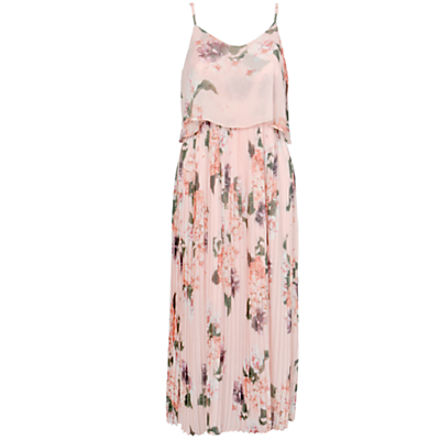 Urban Touch Floral Print Cami Midi Dress, Peach