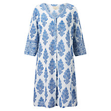 Buy East Sahara Print Kurta Top, White/Blue Online at johnlewis.com