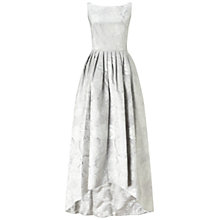 Buy Adrianna Papell Sleeveless Jacquard High Low Ballgown, Silver Online at johnlewis.com