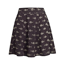 Buy Fat Face Audrey Batik Fish Skirt, Phantom Online at johnlewis.com