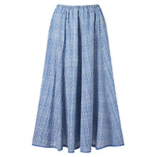 Buy East Sahara Print Skirt, Blue Online at johnlewis.com