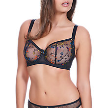 Buy Freya Pandora Vertical Seam Balcony Bra, Noir Online at johnlewis.com