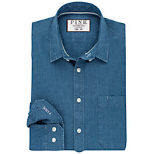 Buy Thomas Pink Espir Plain Slim Fit Denim Shirt, Blue Online at johnlewis.com