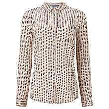 Buy Maison Scotch All-Over Printed Shirt, Pink/Black Online at johnlewis.com