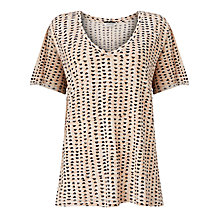 Buy Maison Scotch Loose Fit Printed T-Shirt, Pink/Black Online at johnlewis.com