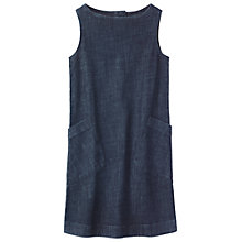 Buy Toast Dora Sleeveless Denim Dress, Indigo Online at johnlewis.com