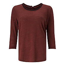 Buy Maison Scotch Woven Back Jersey Top Online at johnlewis.com
