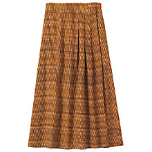 Buy Toast Ikat Column Skirt, Ginger Online at johnlewis.com