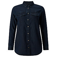 Buy Maison Scotch Western Denim Shirt, Dark Blue Online at johnlewis.com