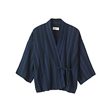 Buy Toast Kyoto Levantine Stripe Kimono Top, Blue/Black Online at johnlewis.com