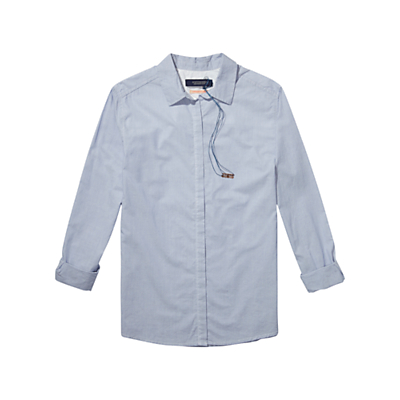 Maison Scotch Boxy Shirt, Light Blue