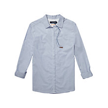 Buy Maison Scotch Boxy Shirt, Light Blue Online at johnlewis.com