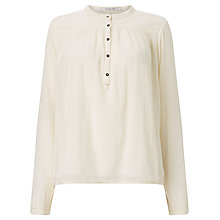 Buy Maison Scotch Mandarin Collar Top, Ecru Online at johnlewis.com