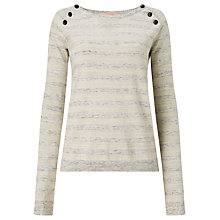 Buy Maison Scotch Button Detail Stripe Jumper Online at johnlewis.com