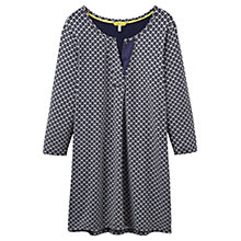 Buy Joules Kimberley Notch Neck Tunic Dress, Grey Diamond Geo Online at johnlewis.com