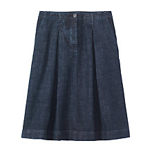 Buy Toast Denim Pleat Front Skirt, Indigo Online at johnlewis.com
