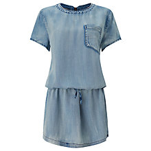 Buy Maison Scotch Drop Waist Denim Dress, Indigo Online at johnlewis.com