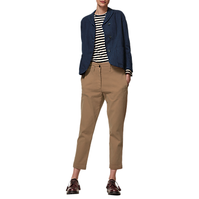 Toast Alma Cotton Twill Jacket, Indigo
