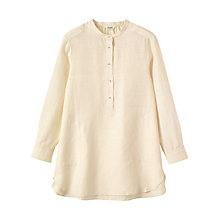 Buy Toast Silk Khadi Tunic Shirt, Off White Online at johnlewis.com