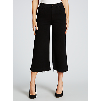 7 For All Mankind Boyfriend Fit Unrolled Culottes, Austin Black