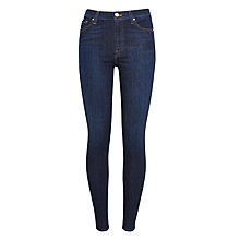 Buy 7 For All Mankind High Waist Skinny Jeans, Avalon Blue Online at johnlewis.com