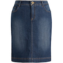 Buy Seasalt St Endellion Denim Skirt, Midnight Wash Online at johnlewis.com