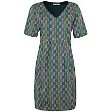 Buy Seasalt Northdown Dress, Strata Check Deep Sea Online at johnlewis.com