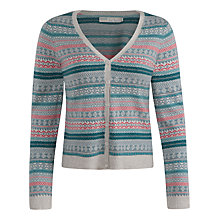 Buy Seasalt Sandip Fair Isle Cardigan, Trioka Silver Online at johnlewis.com