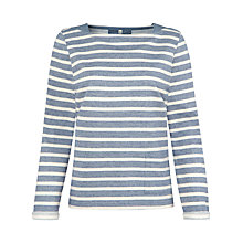 Buy Seasalt Sea Bed Stripe Sweatshirt, Morning Tide Night Online at johnlewis.com