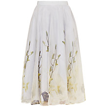 Buy Ted Baker Rahele Pearly Petal Tulle Skirt, Ash Online at johnlewis.com