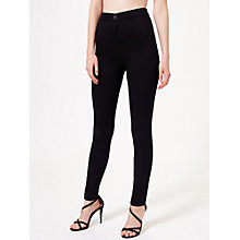 Buy Miss Selfridge Steffi Super High Waist Skinny Jeans, Black Online at johnlewis.com