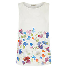 Buy Hobbs Dalilah Silk Top, Ivory/Multi Online at johnlewis.com