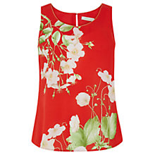 Buy Oasis Chelsea Physic Border Vest Top, Multi/Red Online at johnlewis.com