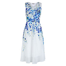 Buy Hobbs Painted Delph Dress, Ivory/Multi Online at johnlewis.com