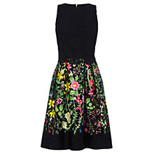 Buy Oasis Chelsea Physic Lace Top Dress, Multi/Black Online at johnlewis.com