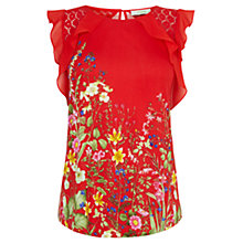 Buy Oasis Chelsea Physic Top, Multi Red Online at johnlewis.com
