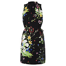 Buy Oasis Chelsea Physic Border Dress, Multi/Natural Online at johnlewis.com