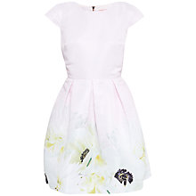 Buy Ted Baker Pearly Petals Dress, Nude Pink Online at johnlewis.com