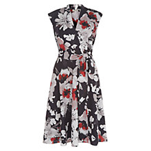 Buy Hobbs Delphine Dress, Red/Multi Online at johnlewis.com